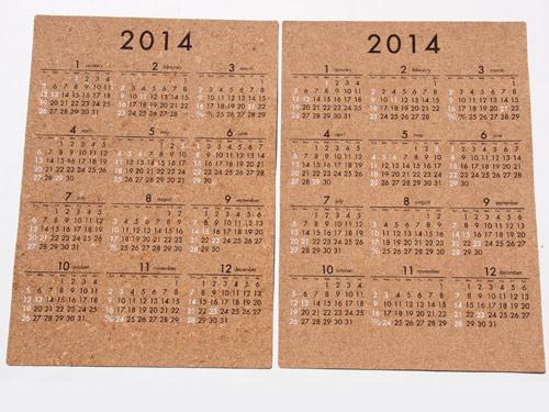 コルクカレンダー2014