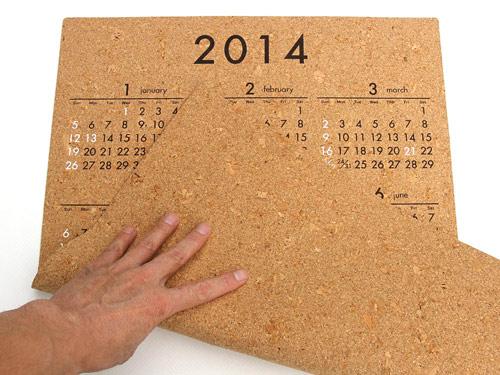 リサイクルコルクのカレンダー