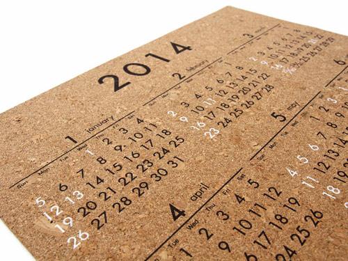 販売予定のコルクカレンダー