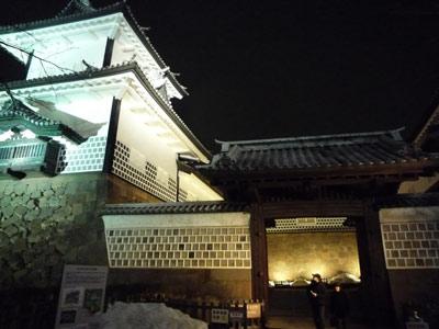 石川門の夜景