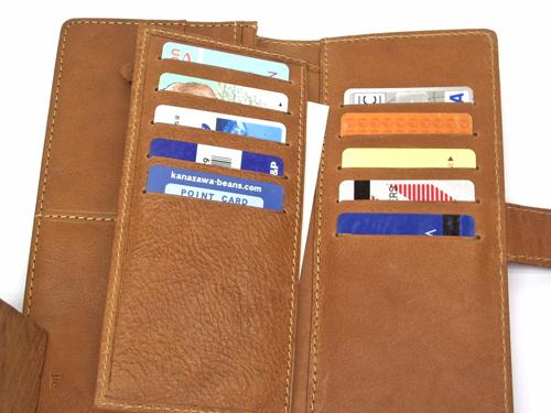 カードが整理できるコルク財布