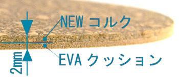 コルクとEVAの複合材