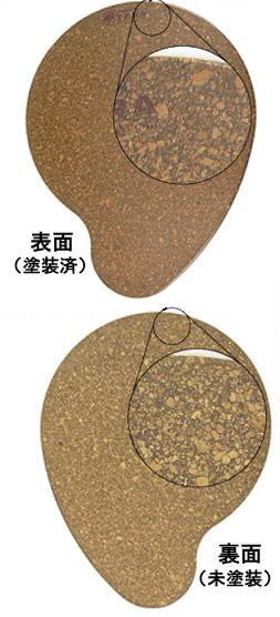 マウスパッド表と裏の塗装の違い