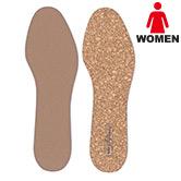 女性用コルクインソール 表裏の素材