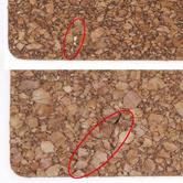 コルクシートに使用に支障のない程度の小さな穴やわれが見られることがあります