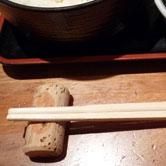 コルク栓箸置きの使用例