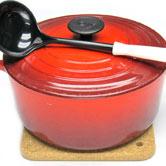 鍋敷き使用イメージ 24cmル・クルーゼと