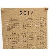 2017年コルクカレンダー使用例